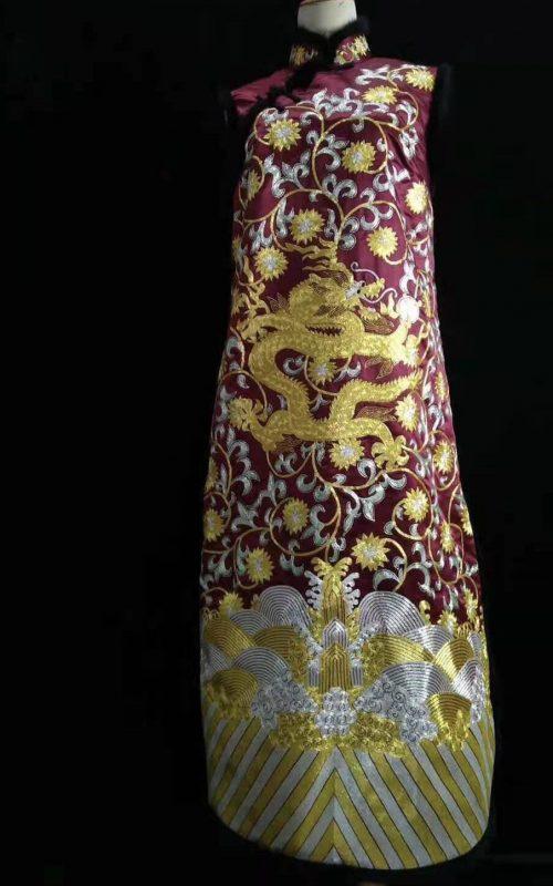 61103 Handmade embroidery Chinese Chi-pao( Cheongsam) purple