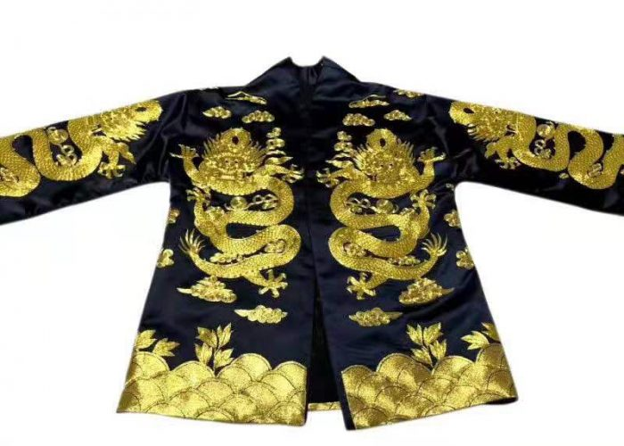 61201 Handmade embroidery dragon coat